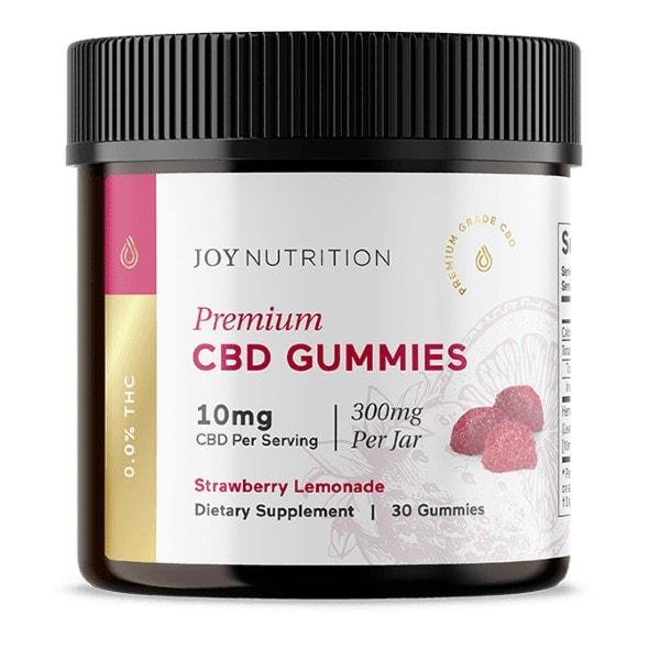 Joy Organics Strawberry Lemonade Flavor Broad Spectrum Vegan CBD Gummies