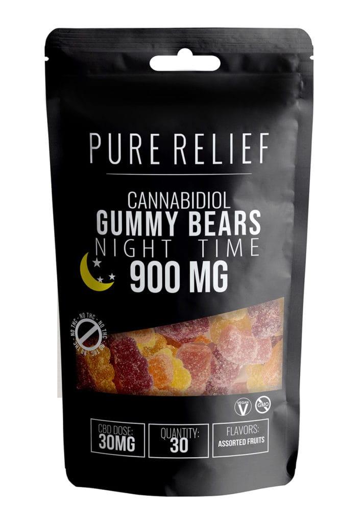 Pure Relief Cannabidiol Night Time Gummy Bears