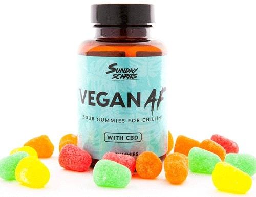 Sunday Scaries Vegan AF Sour Gummies