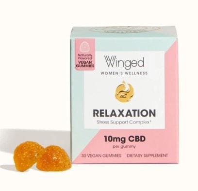 Winged Womens Wellness Relaxation Vegan CBD Gummy