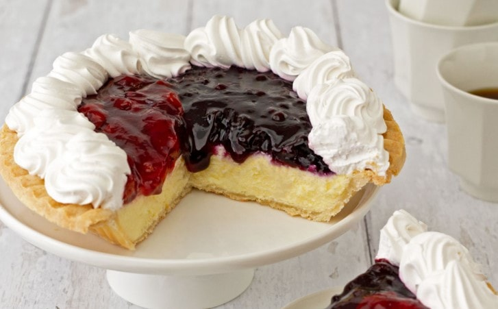 Bake Me A Wish Berry Cheesecake Pie