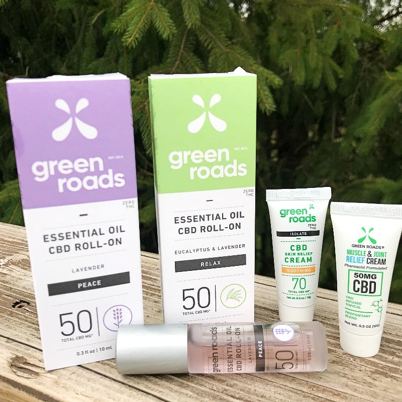 Green Road CBD Spa Collection Essential Oil Roll On Skin and Muscle Cream