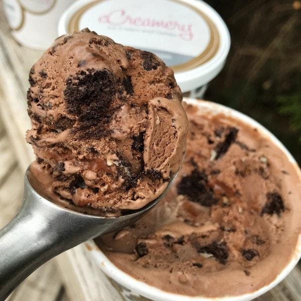 eCreamery Ice Cream Mocha Chocolate Ice Cream Scoop
