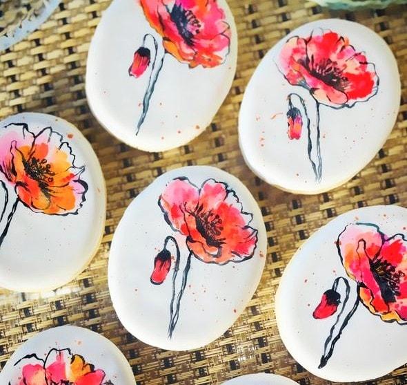 Handpainted Watercolor Gourmet Cookies