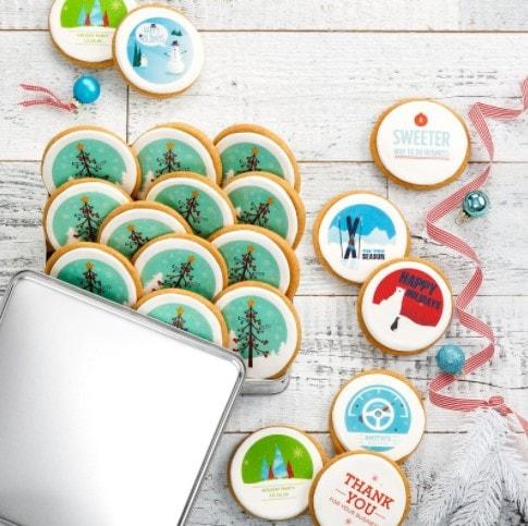 Mrs Fields Custom Cookies Corporate Gift Tin