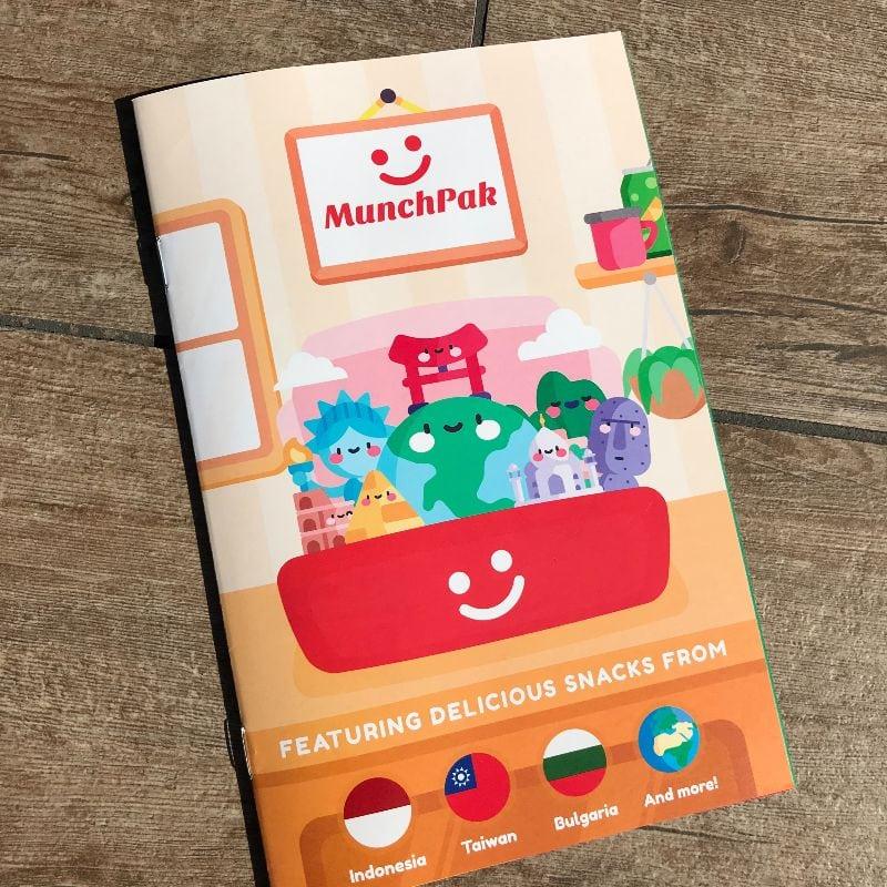 MunchPak Snack Subscription Box Booklet