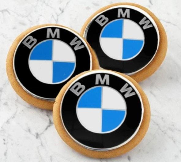 Sugarica Custom BMW Corporate Logo Cookies