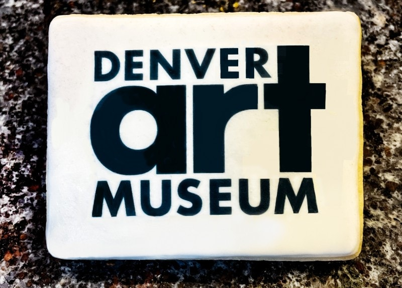 Denver Art Museum Custom Logo Cookie