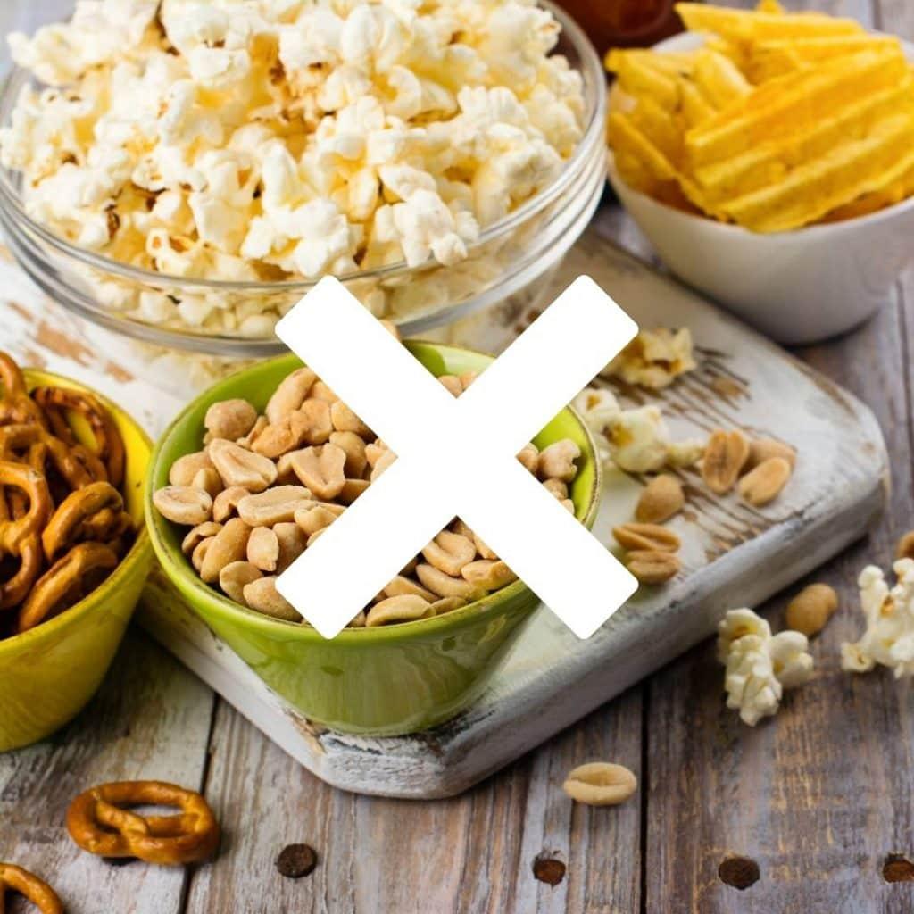 No Nuts Popcorn Chips Pretzels